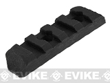 PTS Enhanced Picatinny Keymod Rail Section (Length: 4 Slots / Black)