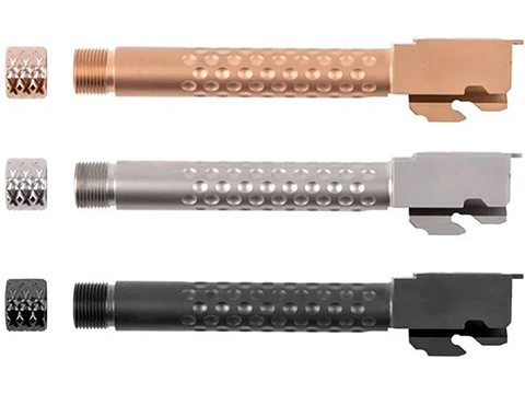 PTS ZEV Technologies Licensed Barrel Set for ISSC M22, SAI BLU, Lonewolf, & Compatible Airsoft Gas Blowback Pistols (Color: Silver)