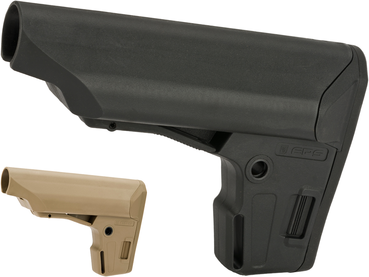 PTS Enhanced Polymer Stock (EPS) for Airsoft Rifles (Color: Black)