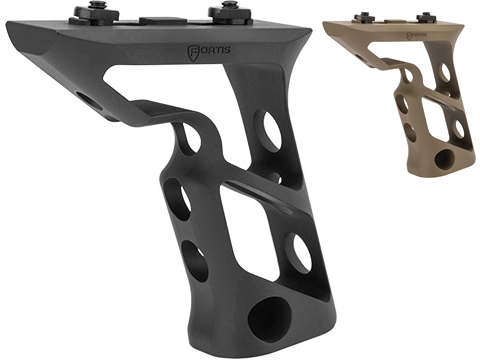 PTS® Fortis Shift™ CNC Machined Billet Aluminum Short Vertical M-LOK Mounted Grip (Color: Black)