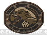 "Mil-Spec Monkey ""Honey Badger"" PVC Velcro Patch - Desert"