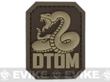 Mil-Spec Monkey DTOM PVC Hook and Loop Patch - Desert