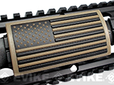 Custom Gun Rails Large PVC Rail Cover (Type: U.S. Flag Tan / Stars Left / 20mm Picatinny Rail Version)
