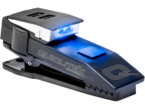 QuiqLiteX USB Rechargeable Uniform Mount LED Light (Color: White / Blue)