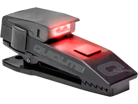 QuiqLitePro Hands Free Pocket Uniform Flashlite (Color: White / Red)