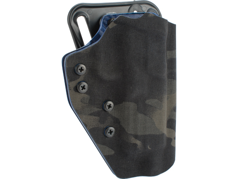 QVO Tactical Secondary OWB Kydex Holster for EMG SAI BLU Series (Color: Multicam Black)