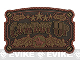 Mil-Spec Monkey Cowboy Up PVC Morale Patch - Bronze