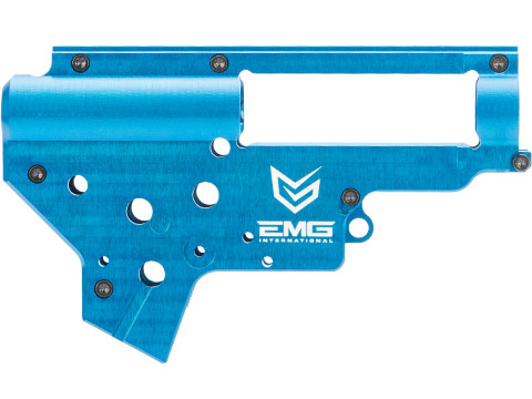 EMG x Retro Arms CZ Billet CNC 8mm Ver.2 Gearbox Shell for M4 / M16 Series Airsoft AEG Rifles (Color: EMG Blue)