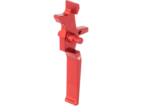 EMG x Retro Arms CNC Machined Aluminum Trigger for M4 / M16 Series AEG Rifles (Color: Red)
