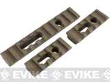 Triple Rail Set w/ Screws for Magpul PTS MOE / MASADA / ACR Handguards - Dark Earth