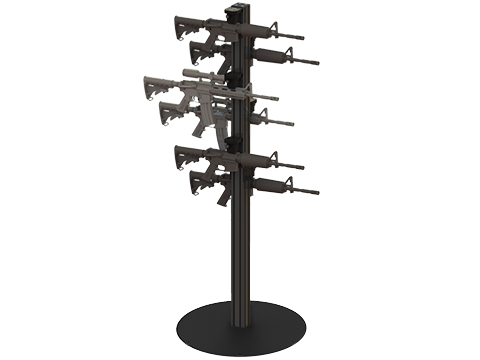 Raptor Products USA Steel Display Tower w/ Vertical Plates (Size: 6ft / 10 Rifles)