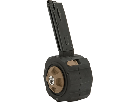 HFC HD Drum Mag for Gas Blowback Airsoft Pistols (Model: WE-Tech / TM M9)