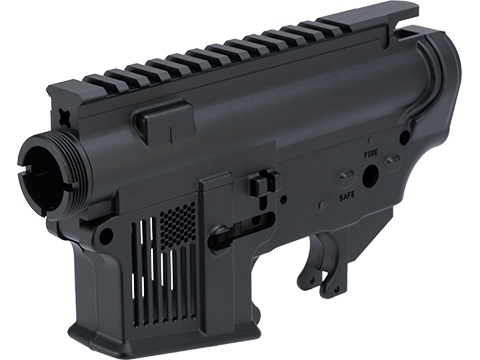 EMG F-1 Firearms Skeletonized FDR-15 Forged Receiver for Gas Blowback Airsoft Rifles by RA-Tech (System: WE-Tech / Black)