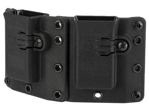 Raven Concealment Short Profile Omnidirectional Pistol Magazine Carrier w/ 1.5 Belt Loops (Type: Double-Double Stack 9mm / .40 S&W)