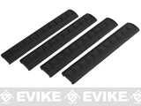 APS Rubber Rail Cover for 20mm Rails - Black / Set of 4