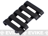 Element 5-Slot Rail Cover with Wire Loom - Black