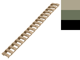 G&P Slim Rubber Hand Guard Ladder Rail Cover  (Color: Desert)