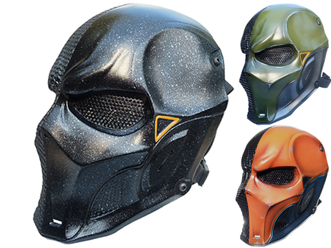 Evike.com R-Custom Fiberglass Death Stroke V3 Full Face Mask (Color: Black / Lens / Medium)
