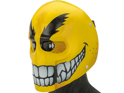 Evike.com R-Custom Fiberglass Wire Mesh Army Mask - Yellow Smile Face