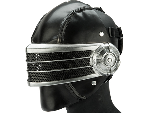 Evike.com R-Custom Fiberglass  Snake Eyes Full Face Mask (Color: Black & Silver / Mesh Lens)