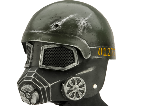 Evike.com R-Custom Fiberglass Wire Mesh Fallout Mask Inspired by Fallout - Green/Gold