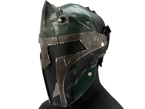 Evike.com R-Custom Fiberglass  Bounty Hunter Spartan Full Face Mask (Color: Bounty Hunter / Mesh Lens)