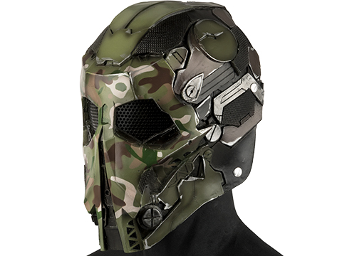Evike.com R-Custom Fiberglass  Stalker Full Face Mask (Color: Woodland / Mesh Lens)