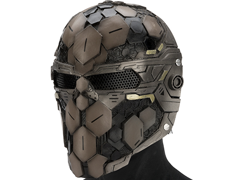 Evike.com R-Custom Fiberglass  Cypher Full Face Mask (Color: Desert / Mesh)