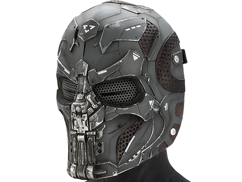 Evike.com R-Custom Fiberglass  CARVR Full Face Mask (Color: Grey / Mesh Lens)