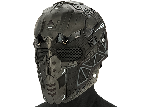 Evike.com R-Custom Fiberglass Raptor Full Face Mask (Color: Grey / Mesh Lens)