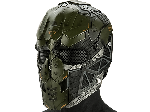 Evike.com R-Custom Fiberglass Raptor Full Face Mask (Color: OD Green / Mesh Lens)