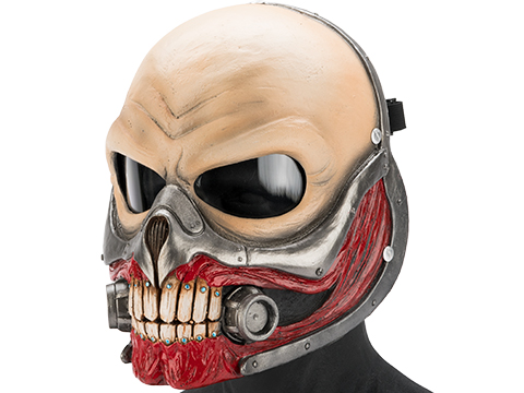 Evike.com R-Custom Immortan Joe Fiberglass Full Face Mask (Color: Clear Lens)