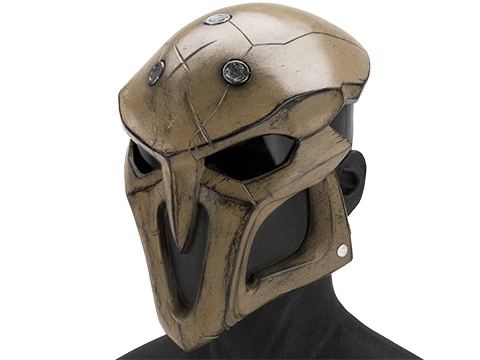 Evike.com R-Custom Fiberglass  Reaper Full Face Mask (Color: Desert / Smoke Lens)