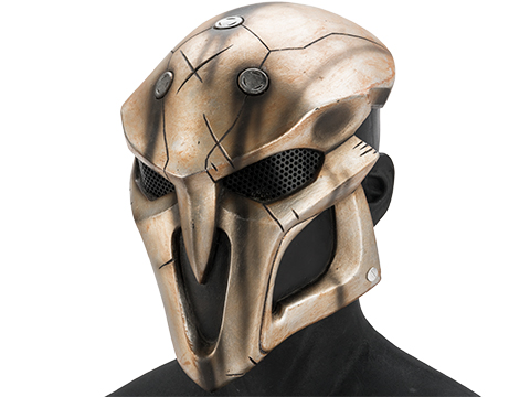Evike.com R-Custom Fiberglass  Reaper Full Face Mask (Color: Metallic Brown / Mesh Lens)