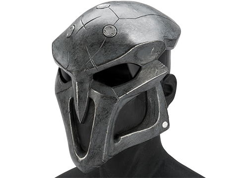 Evike.com R-Custom Fiberglass  Reaper Full Face Mask (Color: Black / Smoke Lens)