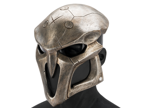 Evike.com R-Custom Fiberglass  Reaper Full Face Mask (Color: Silver / Clear Lens)