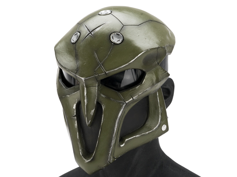 Evike.com R-Custom Fiberglass  Reaper Full Face Mask (Color: OD Green / Clear Lens)