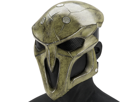 Evike.com R-Custom Fiberglass  Reaper Full Face Mask (Color: Algae / Mesh Lens)