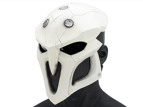 Evike.com R-Custom Fiberglass  Reaper Full Face Mask (Color: White / Smoke Lens)