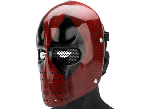 Evike.com R-Custom Fiberglass Snarky Mercenary Full Face Mask (Color: Mesh Lens)
