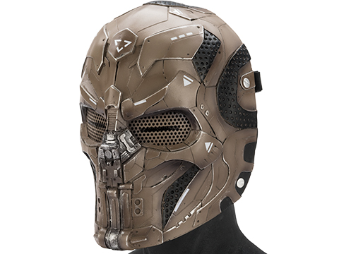 Evike.com R-Custom Fiberglass  CARVR Full Face Mask (Color: Desert / Mesh Lens)