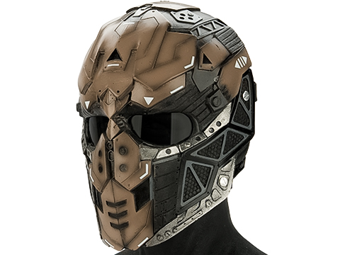 Evike.com R-Custom Fiberglass Raptor Full Face Mask (Color: Smoke / Mesh Lens)
