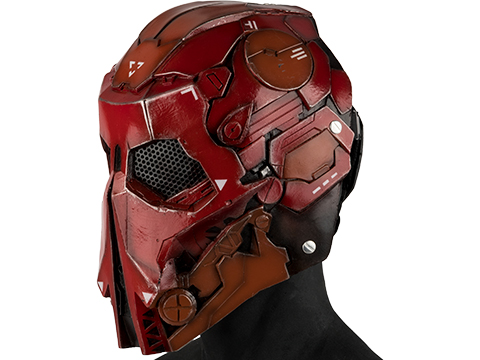 Evike.com R-Custom Fiberglass  Stalker Full Face Mask (Color: Red / Mesh Lens)