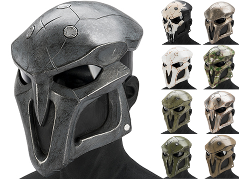 Evike.com R-Custom Fiberglass  Reaper Full Face Mask (Color: Black / Clear Lens)