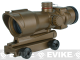 Full Metal Illuminated Red & Green Dot Scope with Built in Mount for Airsoft - Desert