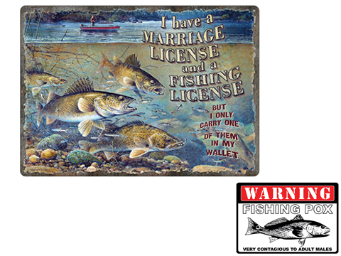 River's Edge Decorative Tin Sign