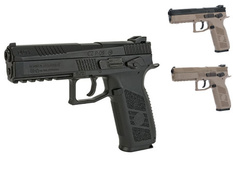 ASG CZ P-09 Duty .177Cal CO2 Air Gun Pistol (Color: Black)