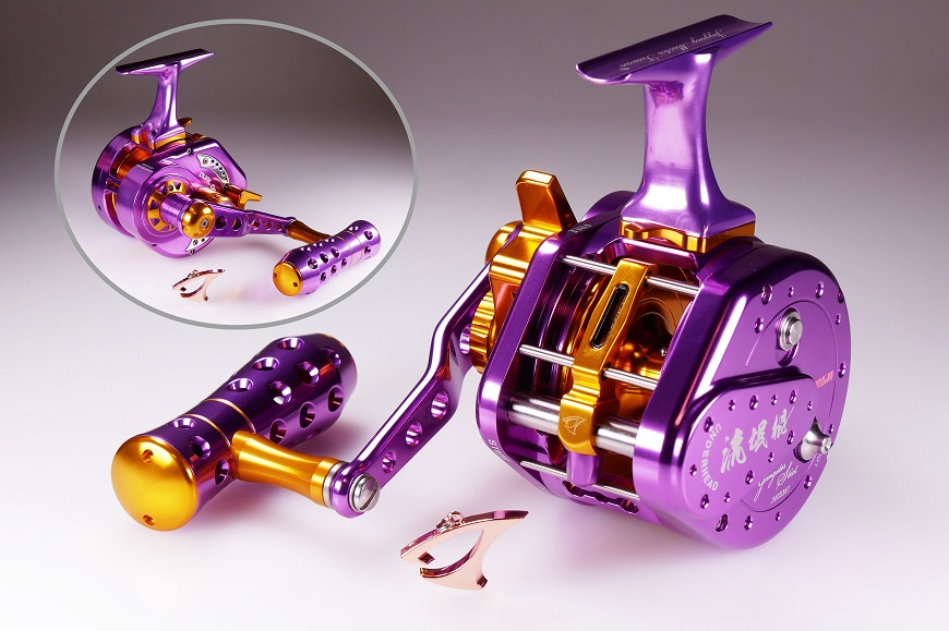 Jigging Master UnderHead Reel - Purple / Gold (Size: PE7 / Left Hand)