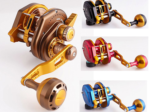 Jigging Master Wiki Violent Slow Lever Wind Fishing Reel w/ Automatic Line Guide (Model: 2000XH Right Blue)