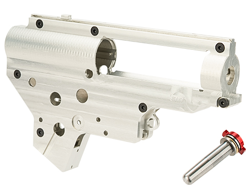 Retro Arms CZ Billet CNC 9mm QSC Ver.2 Gearbox Shell for M4 / M16 Series Airsoft AEG Rifles - Silver